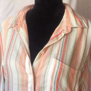 NWT Beach Lunch Lounge Soft Comfy Long Sleeve Top